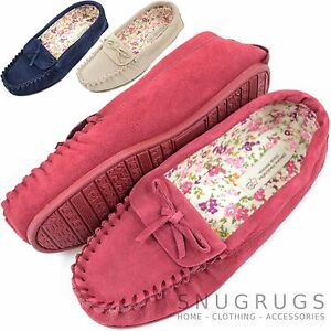 Ladies / Womens Soft Suede Moccasins