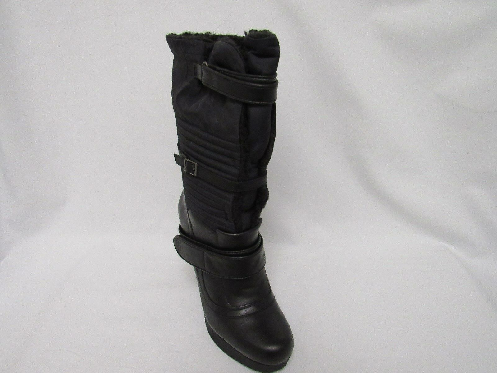 Nine West Women's Iryna Black Fabric Boot Size 8.5M