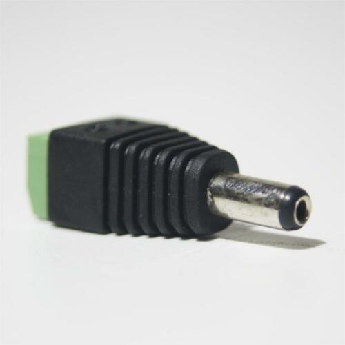 10 x Adattatore-Lampadario morsetto su 5,5//2,1mm DC-connettore-Connettore per LED STRIPES