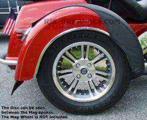 Harley-Davidson-Tri-Glide-Trike-Mirror-Polished-SS-Wheel-Disc-SET-2009-2020-USA
