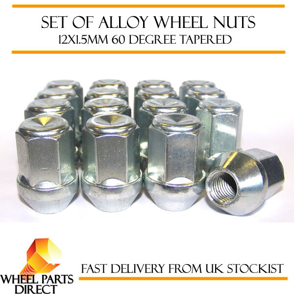 Alloy Wheel Nuts (16) 12x1.5 Degree Tapered for Alfa Romeo 75 1986 to 1992