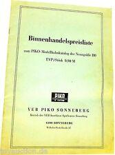 Liste des prix du commerce pour Piko H0 Katalog å