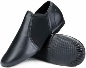 Stelle Leather Jazz Slip-On Dance Shoes