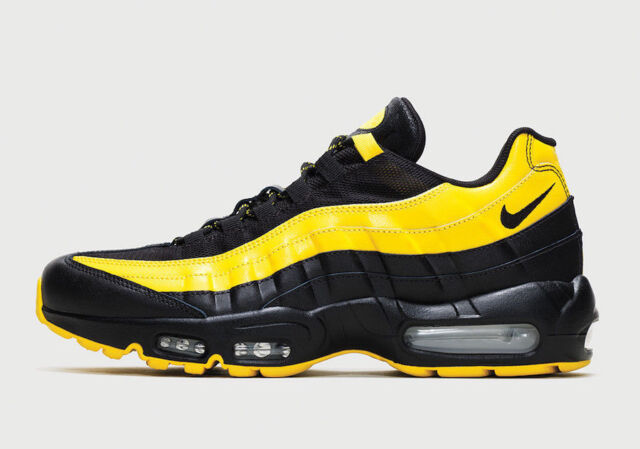 new style 4732b 1d24d Nike Air Max 95 Frequency Pack Yellow Black LA LAKERS Kobe Pirates Steelers  8.5