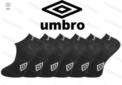 Mens Umbro 3,6,12 Pack Crew Sports Socks White Black Casual Socks Ankle Liner