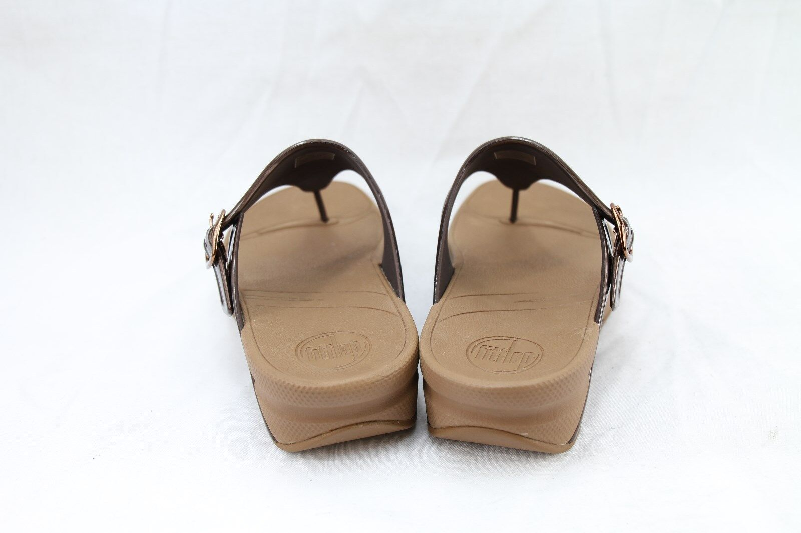 f091ddf52ffd FitFlop Super Jelly Microwobbleboard 403-012 Thong Sandals Medium (b M)  Women Browns 5