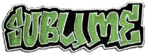 Sublime Green Logo Embroidered Iron Patch reggae rock ska punk slightly stoopid
