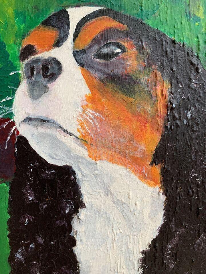Akrylmaleri, Ukendt, motiv: Dyr