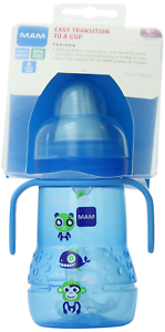 MAM Trainer Cup, Trainer Cups for Babies with Handles, Boy, 8 Ounces, 1-Count