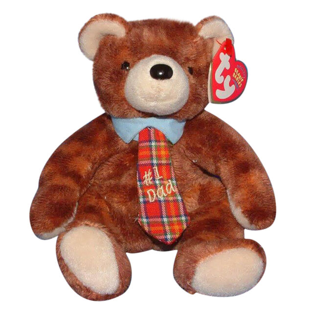 Pappa 2004 Retired 7.5in Ty Beanie Babie Fathers Day Bear 3up Boys ... b9e83c15a500