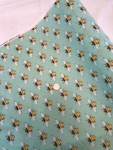 Rose /& Hubble 100/% Cotton Fabrics Mint Bee light weight