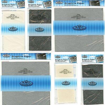 "Tracing Down 18/"" x 36/"" Royal Langnickel Transfer Paper - Graphite Grey"