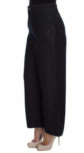 Nuovo us10 A It44 Jeans Blu Seta Zampa l Gabbana Cotone Pantaloni Dolce Misto TTpUrOSn