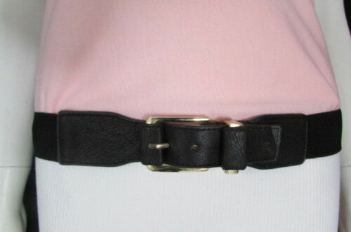 New Women Elastic High Waist Hip Fun Fashion Belt XS S M Black Brown Gold Silver