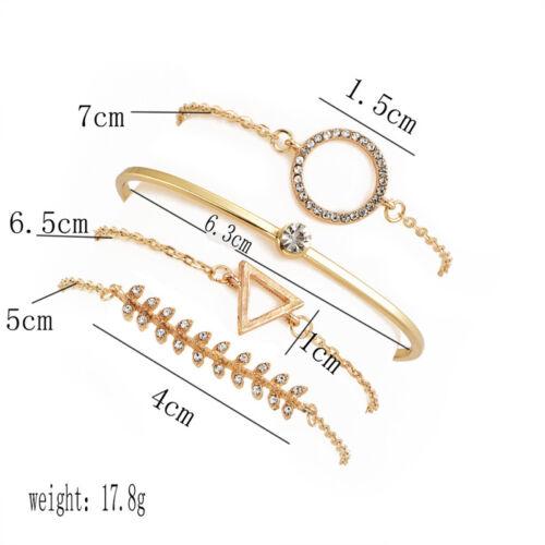 6Pcs Bracelets Set Crystal Turquoise Bead Chain Tassel Open Bangle Women Jewelry