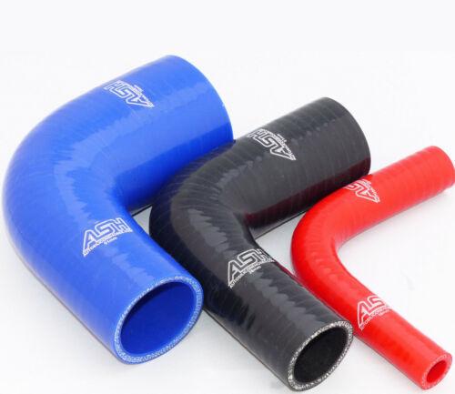 90 degrés 90 ° reduzierbogen Réduction Coude 28 mm /> 25 mm Silicone Tuyau-Rouge