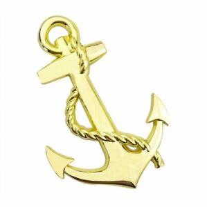 Anker-3D-metallic-Sticker-Aufkleber-Anchor-Auto-Motorrad-gold-retro-Emblem