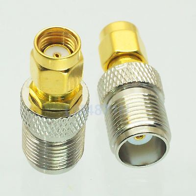10pcs Adapter N female to RP.SMA jack male RF connector straight F//M
