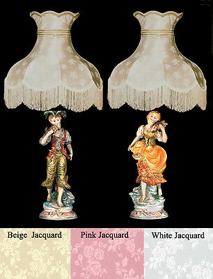 Girl Lamps W Shades Made In Italy, Antique Lamps Made In Italy