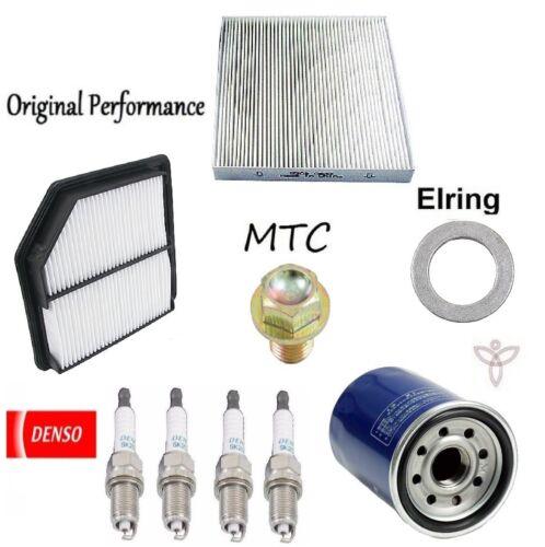 Tune Up KIT Filters Plugs Oil Drain Plug for Honda Civic DX; EX; LX; 1.8L 06-09