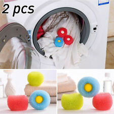 2Pcs New Reusable Clear New Cleaning Washing Machine Laundry Ball Clean