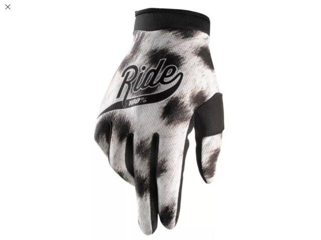 2 PAIR 100/% ITrack Gloves Medium Ride Black New MX ATV Dirtbike Riding