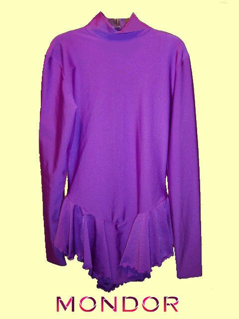 Mondor  Size YJ -  X-SMALL purple Practice Skating Dress Costume CLEARANCE  we take customers as our god
