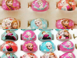 100 kids party frozen anna elsa resin Rings children Jewelry lots wholesale