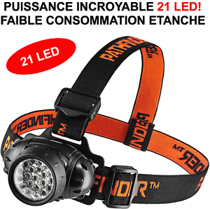Rare Introuvable Lampe Frontale 21 Led Hyper Puissante Bricolage