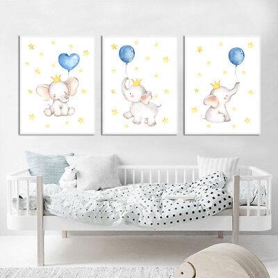 Elephant Wall Art Canvas Poster