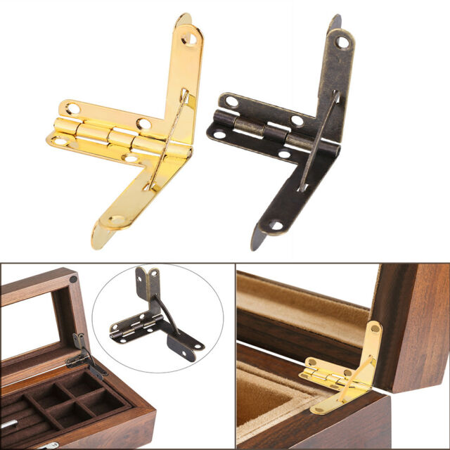20Pcs 90°Angle Support Spring Hinge for Small Jewelry Wine Case Watch Box Lid H