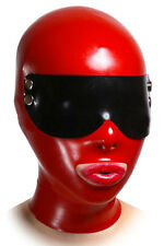 BDSM Latex Hood with Goggles, Fetish Gummy Mask (optinal colour, size, mouth)