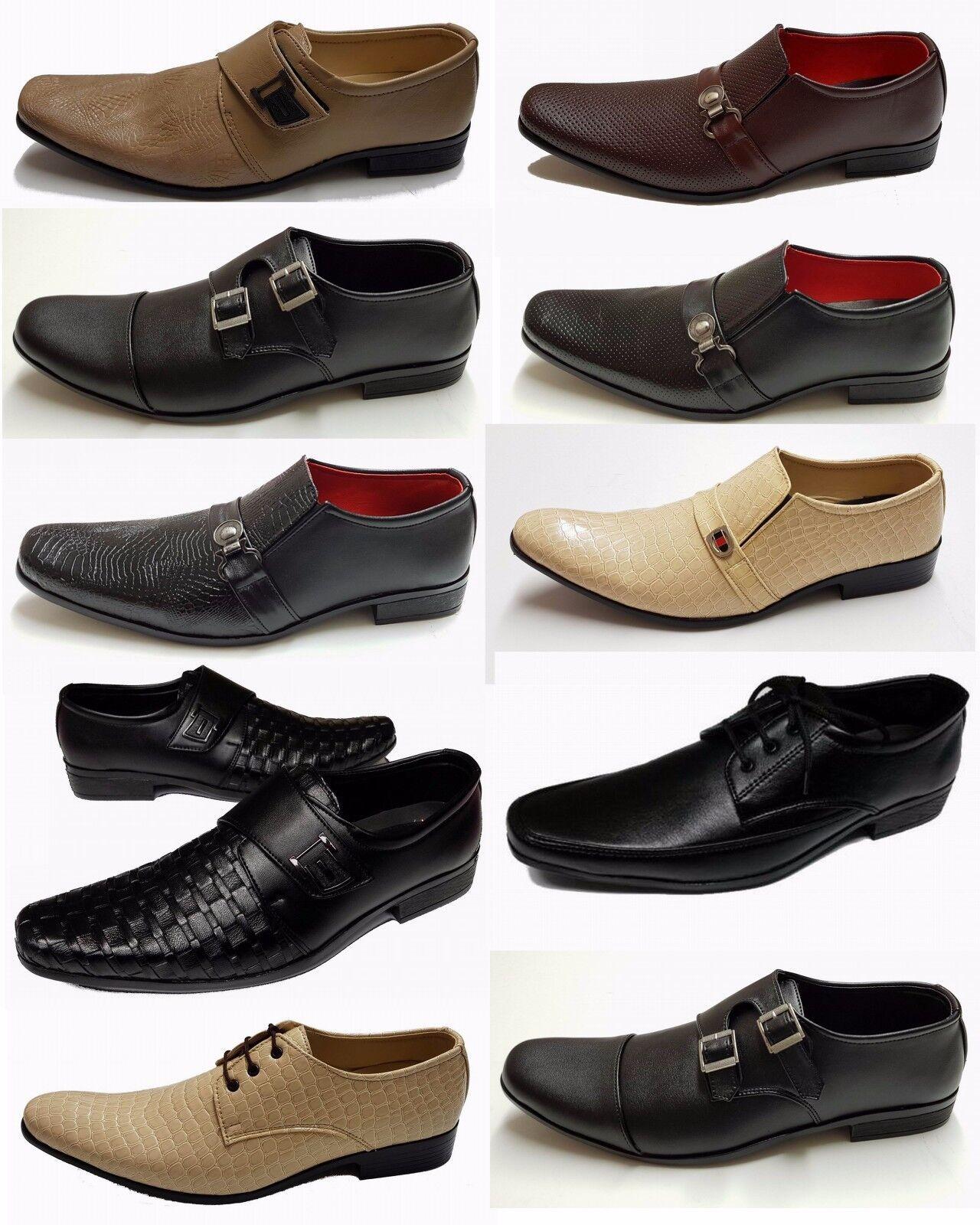 SHUMAXX MEN/'S SHOES Slip on FORMAL DRESS ITALIAN STYLE MEN BOY/'S SHOES