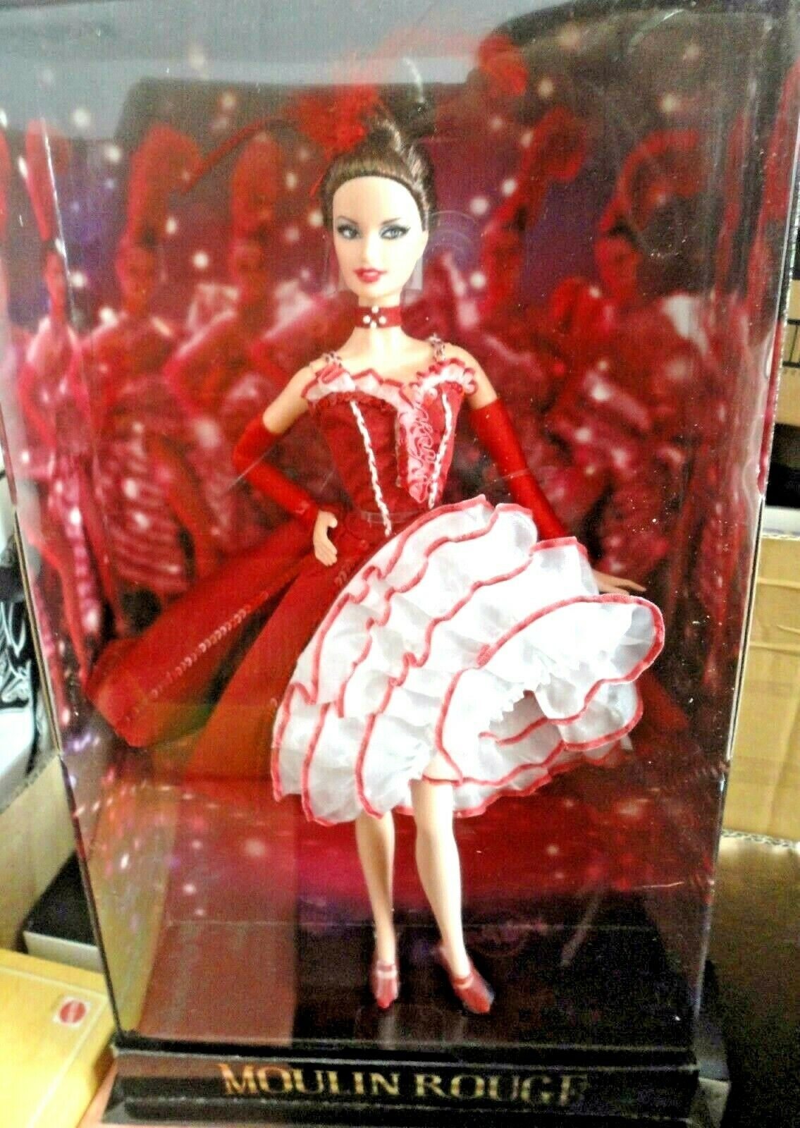 BARBIE MOULIN rojo NRFB - oro LABEL new model muse doll collection Mattel