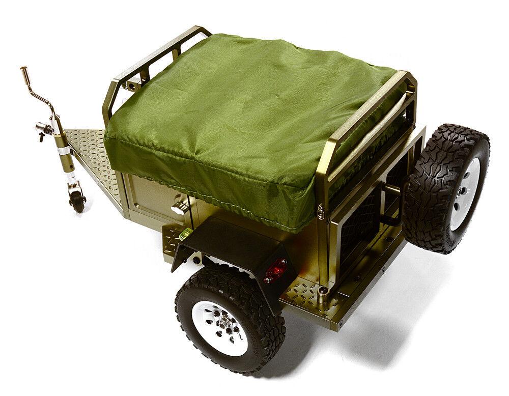 forma unica INTEGY RC C27994GUN Camping Trailer w Roof Top Tent Tent Tent for 1 10 RC 390x195x175mm  Prezzo al piano