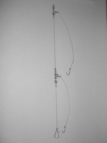 2 Hook Clipper Rig Hand Crafted Field tested in the UK. Sea Fishing Rigs