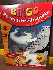 Lernbuch-BINGO-Logo-Rechtschreibspiele-Lernheft-4-Klasse-Lernspiel