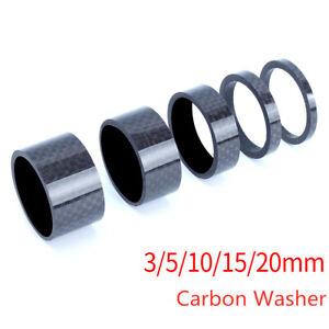 "4PCS Bike Washers Carbon Fiber 1-1//8/"" MTB Cycle Stem Headset Spacer 5//10//15//20mm"