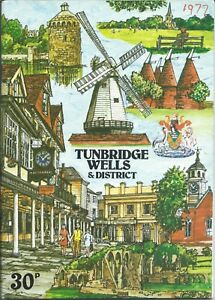 TUNBRIDGE-WELLS-1977-Official-Guide-history-illustrated-information-adverts-MAP