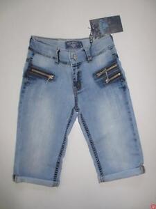 Sale %% Blue Effect Capri Kurze Hose Jeans Destroyed Normal 1161-3726