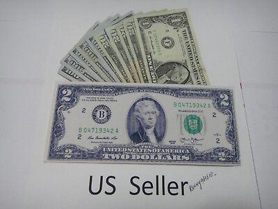 12X-50 Dollar Bill Money Bi-Fold card holder ultra thin Canvas Wallet US Seller