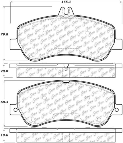 Disc Brake Pad Set-Premium Ceramic Pads w//Shims /& Hardware Front fits GLK350