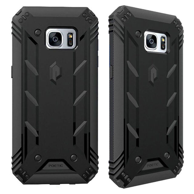 Full Coverage Shockproof Cover Case For Samsung Galaxy S7 Edge (2016) Black