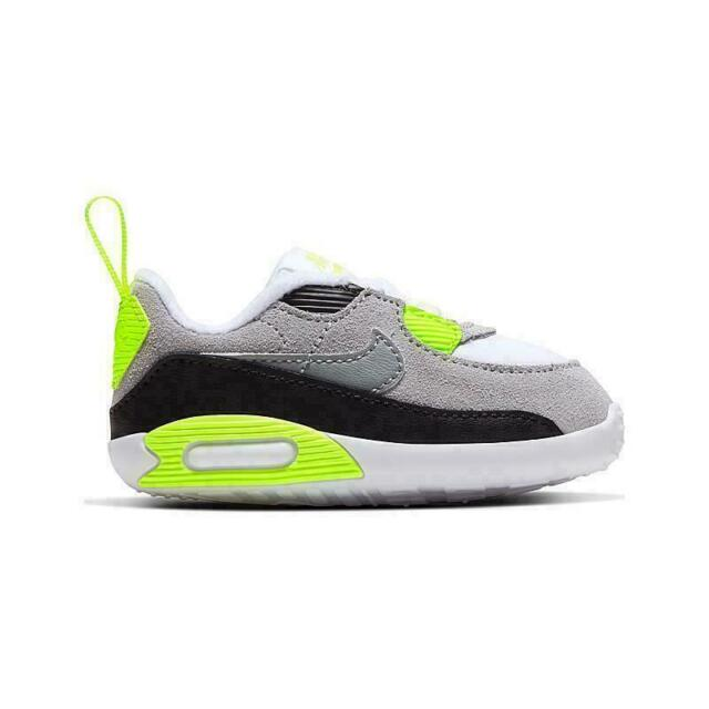 Tigre menú Paternal  Nike Air Max 90 Toddlers 408110-137 Infrared Grey White Infant Shoes Baby  Size 7 for sale online | eBay
