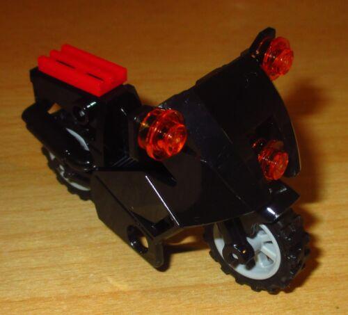 1 City Motorrad in Schwarz Lego City
