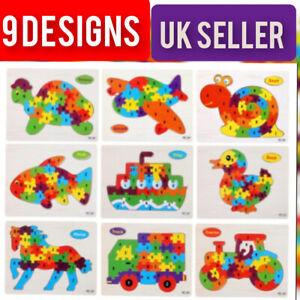 En bois ABC alphabet puzzle Animal Puzzle Enfants Jouets Children Educational Learning