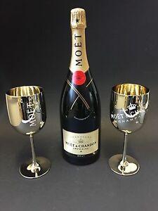 moet chandon imp rial champagner 1 5l mag flasche 12 vol 2 gold acryl gl ser. Black Bedroom Furniture Sets. Home Design Ideas
