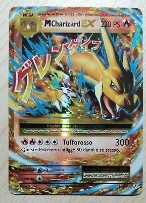 Carta Pokemon MEGA M CHARIZARD EX 13//108 XY EVOLUZIONI FULL ART GX IN ITALIANO