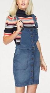 Tom-tailor-nuevo-talla-M-L-XL-Denim-latzrock-rock-jeans-denim-para-senora