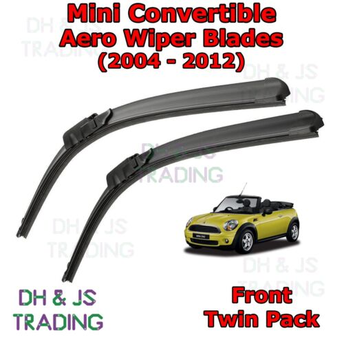 Cooper Convertible Aero Wiper Blades  Front Flat Blade Wipers 04-12 Mini One